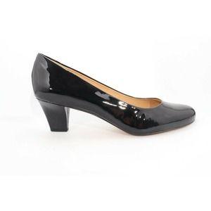 Trotters Penelope Pumps Black Patent 12 ( )6136
